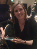 Tamsin with the coveted award